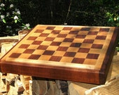Chess Board Walnut & Maple, Handmade, Gift for him, Father's Day, Anniversary, Groomsman, Groom Gift