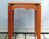 Cherry Side Table,  Side or End Table Handmade From Solid Wood