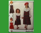 Children Girls Gathered Jumper and Ruffled Blouse  Butterick B-line Pattern 6927 Size 7 8 10