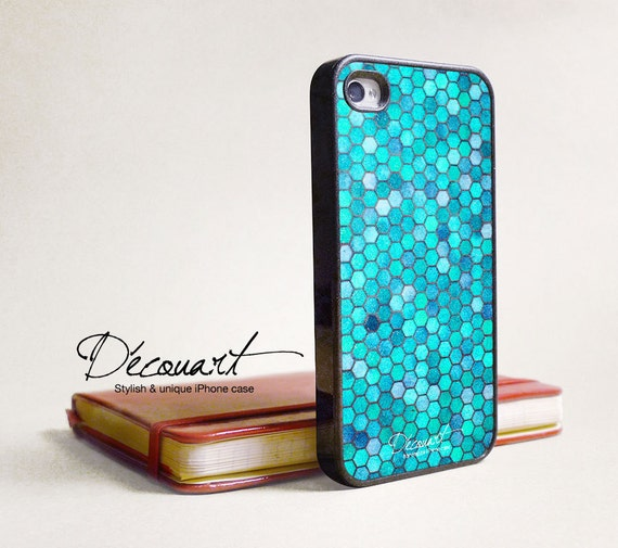 Turquoise iPhone 5 case or iPhone 4 case