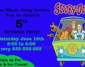 Scooby Doo Birthday Invitation - Free Thank You - Digital - Special Price
