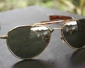 Reserved For Ana Vintage 1950's American Optical Aviator Skymaster Classic Sport Sunglasses Perfect Father's Day Gift
