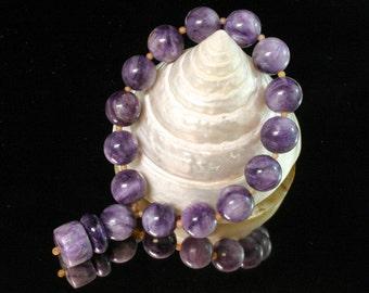 Unique Yoga Jewelry - Om Bracelet - Yoga Meditation - Charoite Bracelet - Mala Beads Bracelet -  Om Jewellery - Zen Bracelet