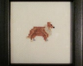 Shetland Sheepdog Cross Stitched Full Body Dog.