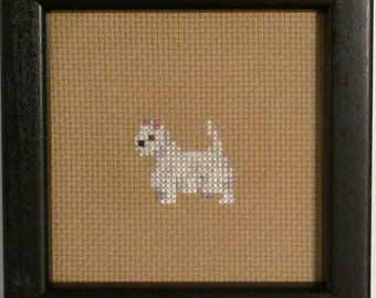 West Highland Terrier White Cross Stitched Full Body Dog.