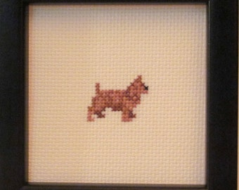 Norwich Terrier Cross Stitched Full Body Dog.