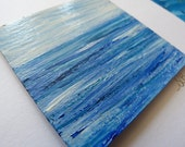original Handpainted seascape card 'calm sea'