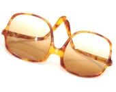 Vintage huge tortoise sunglasses, graduated tint, made in France