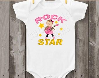 Rock Star Monkey Bodysuit or T-Shirt