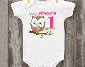 Look Whoo's One Owl Bodysuit or T-Shirt  (Design 1)