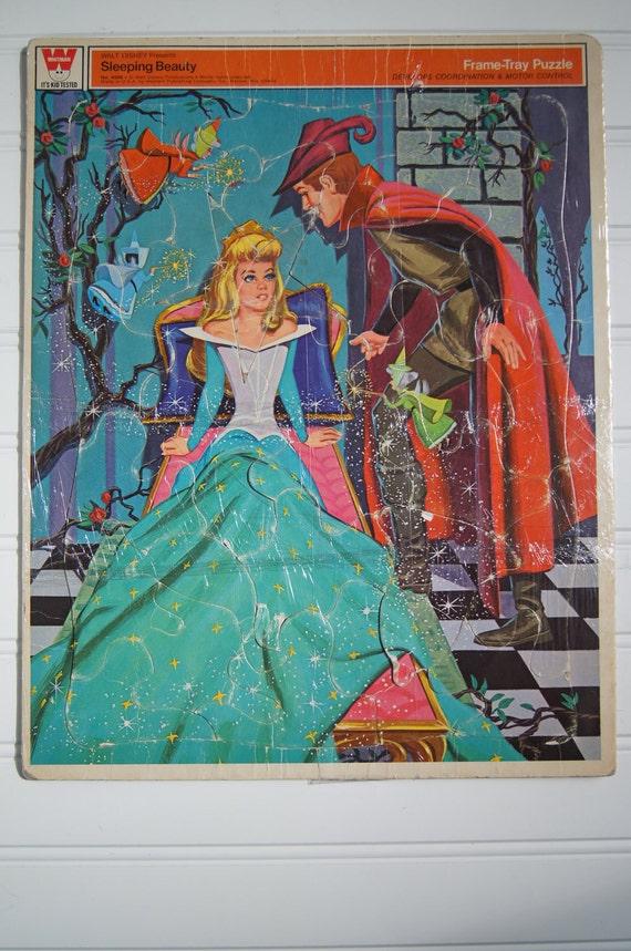 Vintage Sleeping Beauty Puzzle - Whitman Frame-Tray Puzzle - Disney