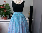 1950's inspired cotton print skirt size M UK12