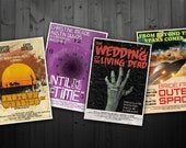 Vintage Movie Poster Wedding Program / Save the Date Bundle - Printable