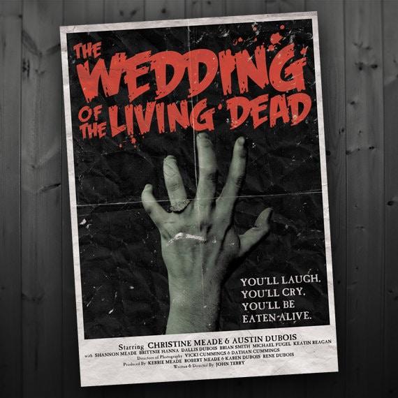 Items Similar To Vintage Zombie Movie Poster Wedding