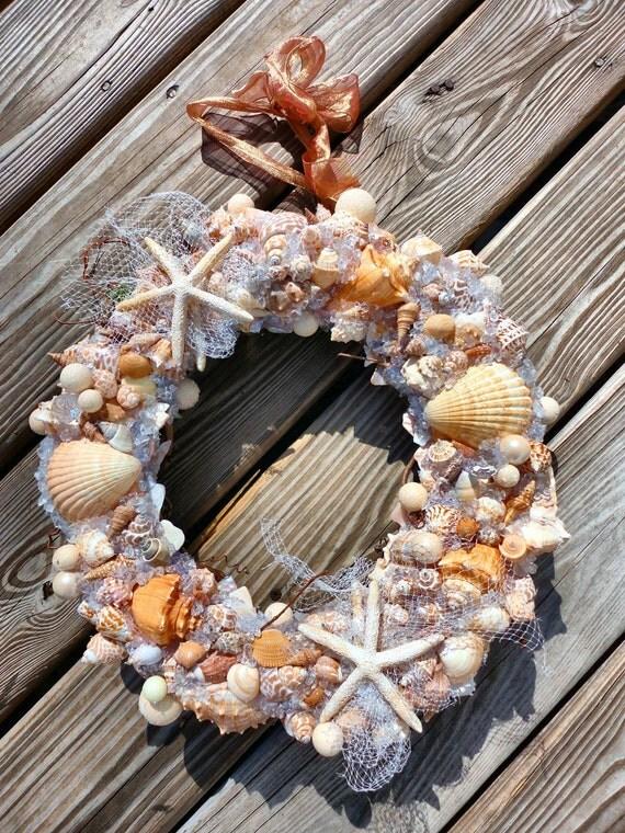 Beachy Shell Wreath with Sea Glass