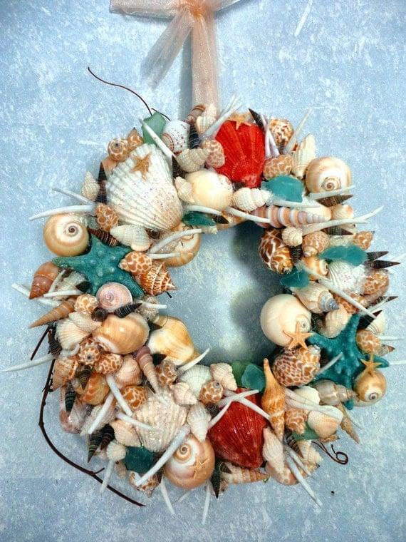 Beachy Sea Shell Wreath