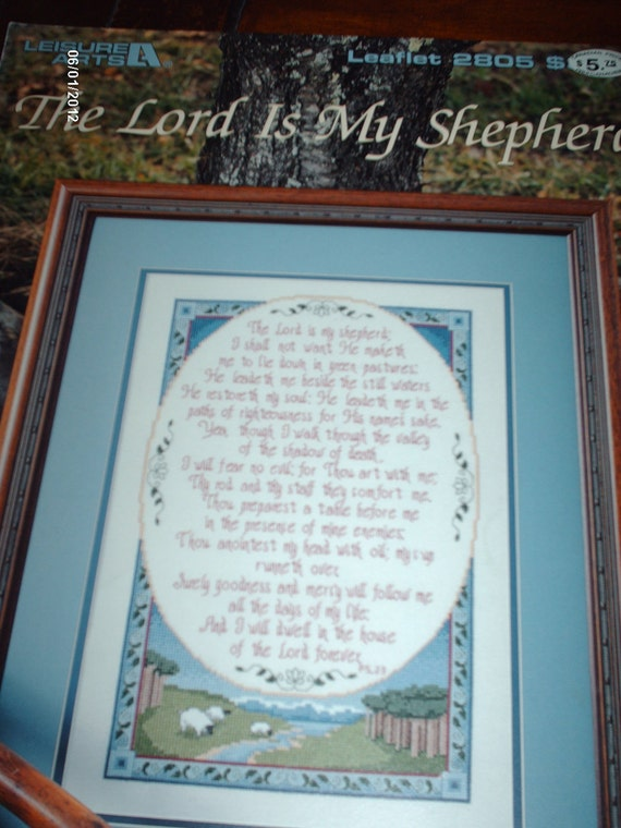 The Lord Is My Shepherd Counted Cross Stitch Pattern
