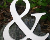 "12"" Wooden Ampersand Sign UNPAINTED Photography-DIY-Wedding Decor-Engagement-Wooden Alphabet Letters- Photography prop- Birthday- Decor"