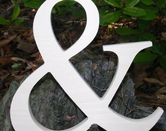 """12"""" Wooden Ampersand Sign UNPAINTED Photography-DIY-Wedding Decor-Engagement-Wooden Alphabet Letters- Photography prop- Birthday- Decor"""