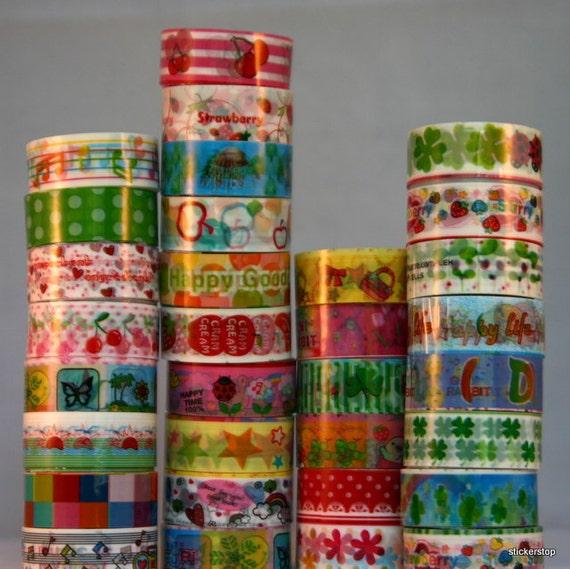 Cute Kawaii Deco Tape - 4 rolls - Colorful fun