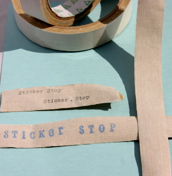 Eco Cotton Tape - Ecru color - Stamp, Type, or Print Your Own Image