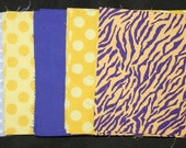 LSU Tigers Charm Pack 40 5 inch fabric squares