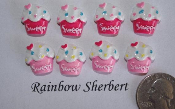 Cupcake Cabochon- Flatback