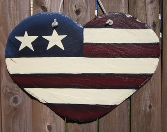 Large Heart Flag Handcut