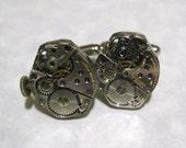 Set 6 Groomsmen Gifts Jeweled Steampunk Watch Movement Cufflinks