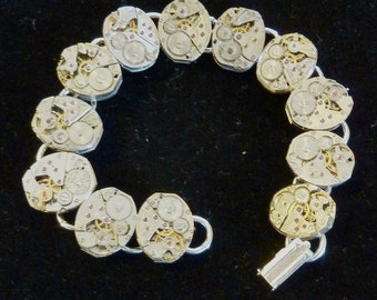 Steampunk Watch Movement Bracelet