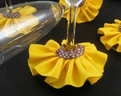 Sunflower Wine Skirts - Charms - Set of 4