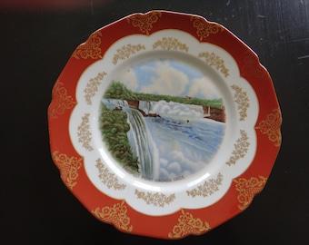 Vintage Souvenir Prospect Point Niagara Falls Plate Made by H & C Heinrick