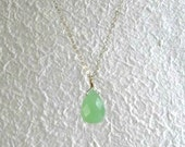 Green Teardrop Pendant-Li...