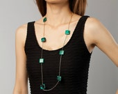 Long Turquoise Necklace-N...