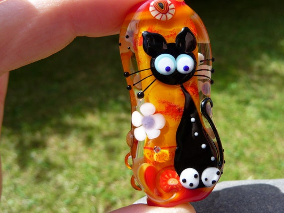 Glass Bead foor cat lover - by Ulrike Dietrich