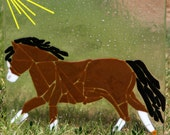 Fused Glass Pony