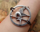 HUNGER GAMES bracelet,inspired mockingjay necklace with retro silver arrow---B021