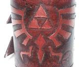 Leather Legend of Zelda Bracelet / Wrist Cuff