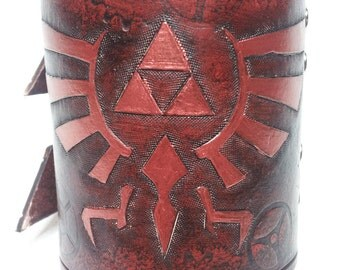 Leather Legend of Zelda Bracelet / Wrist Cuff