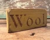 Primitive Sign Wool