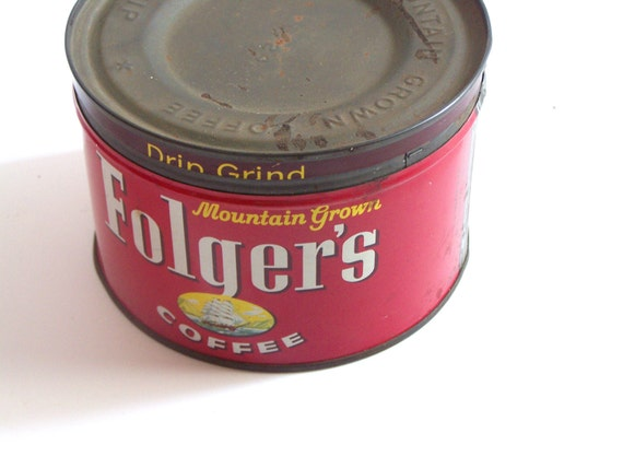 1959 One Pound Folgers Coffee Can