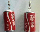 cute novelty cola can earrings