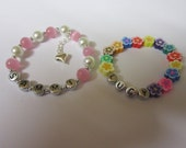 childrens personalised bracelet elasticated