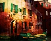"Venice Photography - Home on the Water, Canal Boat, Work Shop, Limited Edition,  Fine Art Photography 8"" x 10"""