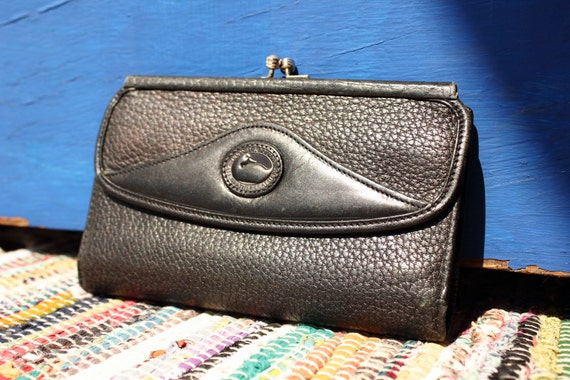R E S E R V E D for GRACE Dooney & Bourke Black Leather Vintage Wallet