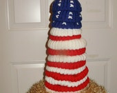 Patriotic Flag tree (knit)