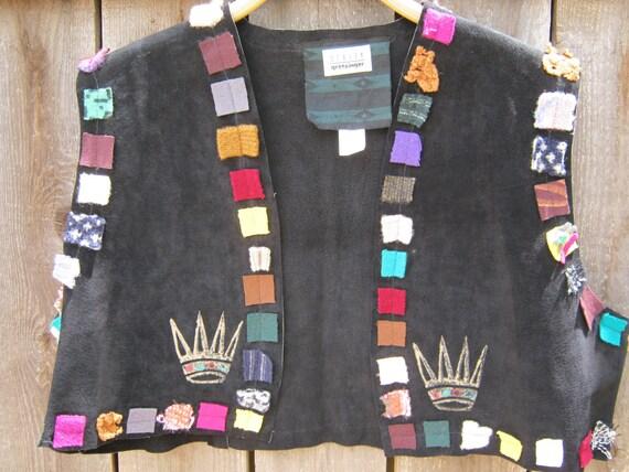SALE - Staley Gretzinger Black Leather Unique Vest