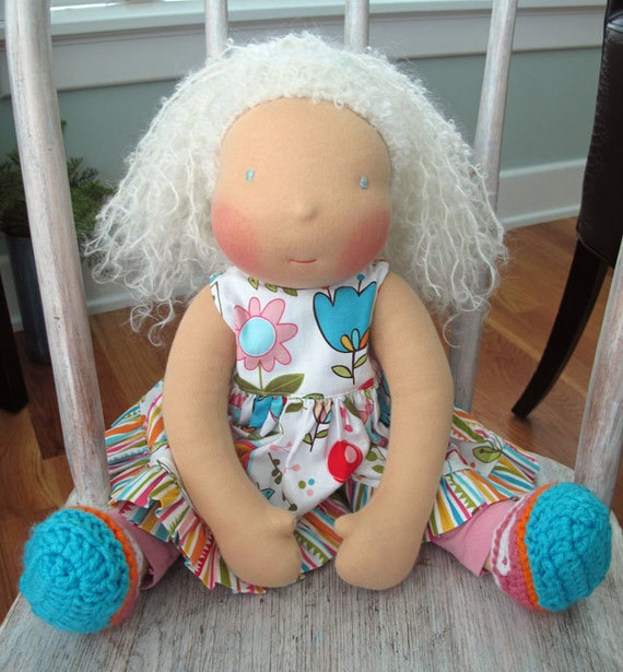Waldorf inspired doll, Isabella Rose, , RESERVED