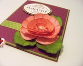 Handmade Sympathy Card with Stamped Verse Inside