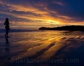 Beach Sunset Photo, Nicaragua, Playa Hermosa, Magic colorful sunset